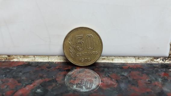 50 Centavos 1976 Argentina Escasa