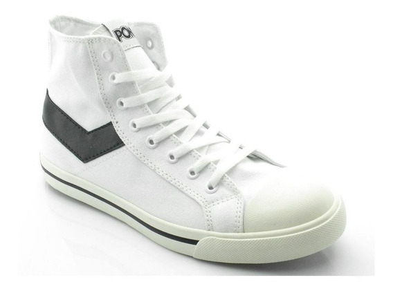 Zapatillas Pony Shotter Hi Canvas Blanco Po101002