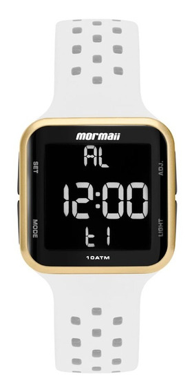 Relógio Mormaii Unissex Digital Branco Mo6600ad/8b Original
