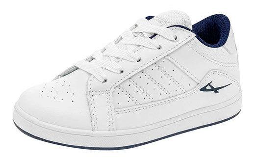 Pontiac Sneaker Escolar Sintético Dama Blanco J67698 Udt