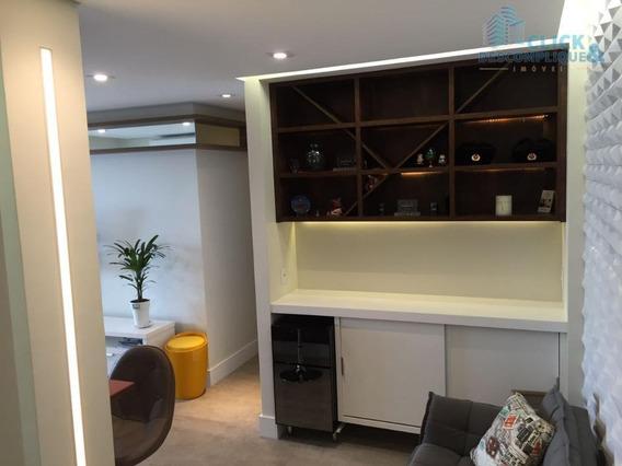 Lindo Apartamento 2 Quartos, Mobiliado, Locação, Vila Matias, Santos - Ap0753. - Ap0753