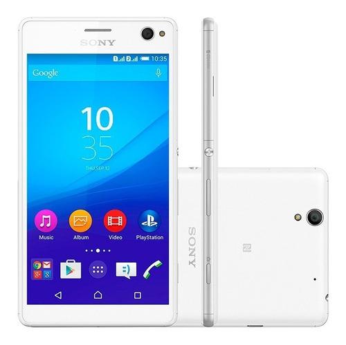 Imagem 1 de 2 de Smartphone Sony Xperia C4 E5343  Branco  Dual Chip