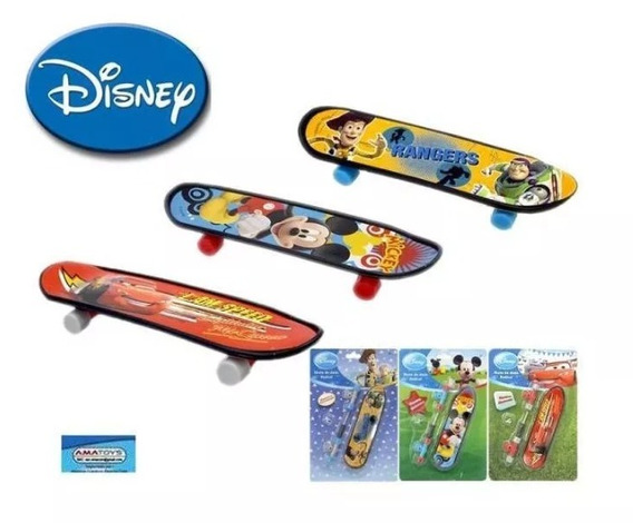 Skate De Dedo Personagens Da Disney Kit Com 03 Peças