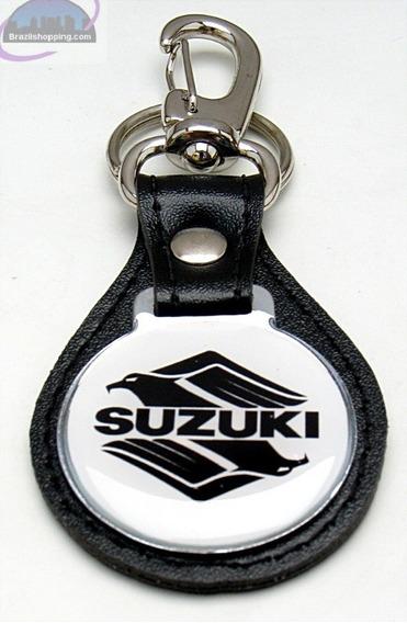 Lindo Chaveiro Couro Intruder Suzuki Moto 125 250 M800 1400