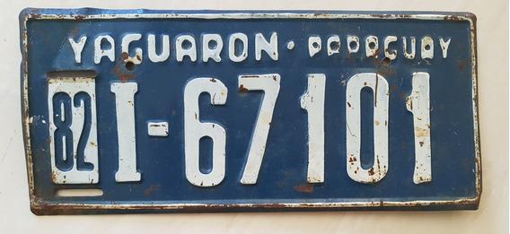 Placa Carro Antiga Ferro Paraguai Yaguarón 67101