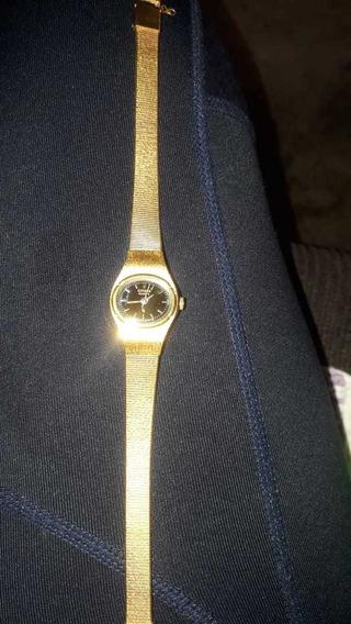 Reloj Marca Citizen Bañado En Chapa De Oro