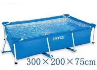 Piscina Intex De Tubo Rectangular Armable 300x200x75cm Nueva