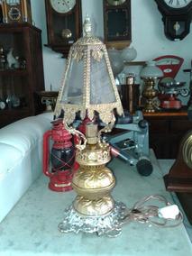 Lindo Lampião Abajur Antigo Em Bronze Preço Unitario