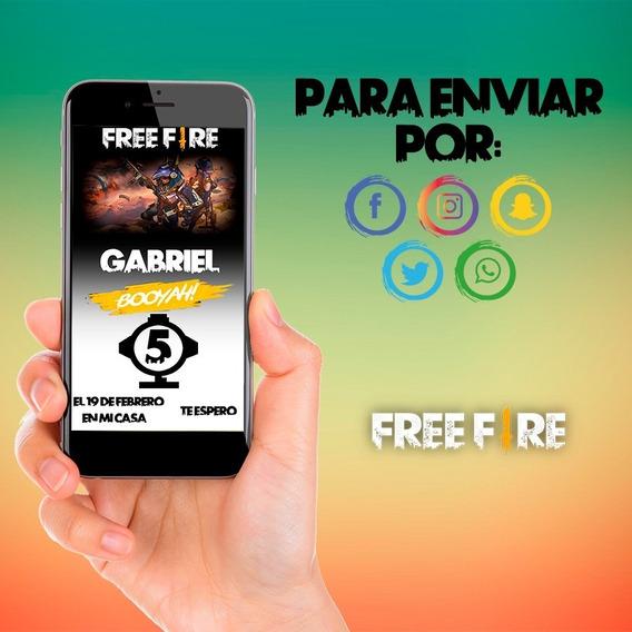 Invitacion Digital Personalizada-free Fire Para Enviar.
