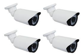 4 Câmeras Segurança Infra Ccd 4000 Linhas Ir Digital 50m