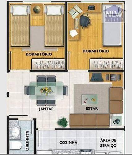 Imagem 1 de 7 de Apartamento Com 2 Dormitórios À Venda, 40 M² Por R$ 208.000,00 - Mogi Das Cruzes - Mogi Das Cruzes/sp - Ap3126