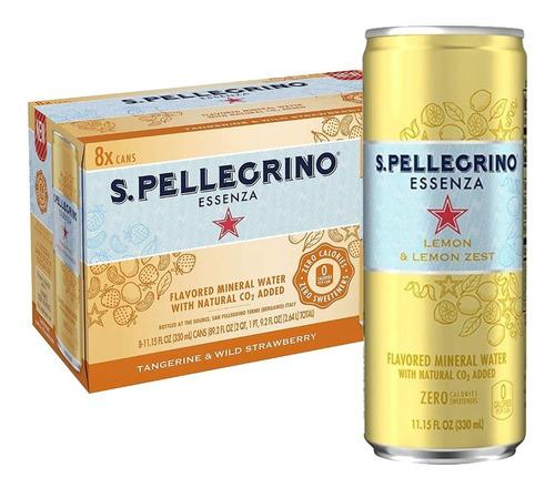 Imagem 1 de 4 de 8x Bebida Aromatizada Limão San Pellegrino Com Gás 330ml
