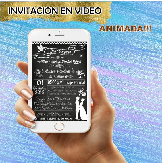 Video Invitacion Animada Boda Novios Original Mod1