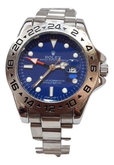 Relógio Daytona Masculino Silver Blue Frete Grátis