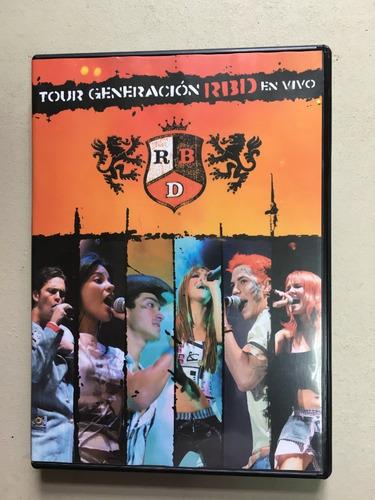 Dvd Original Rbd Tuor Generación Rbd En Vivo