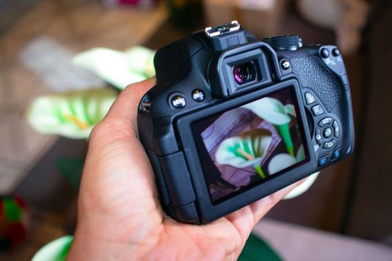 Câmera Cânon T5i Novíssima Com Apenas 214 Clicks.