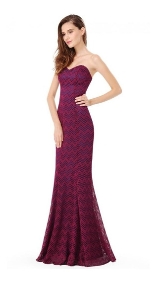 Oferta 2020 Vestido Straples Sirena Encaje Impor Moda Pasión