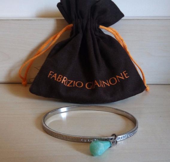 Bracelete Oval Com Quartzo Verde - Fabrizio Giannone
