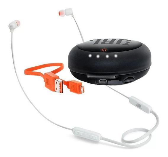 Fone Ouvido Jbl T110bt Bluetooth Branco + Case Carregador