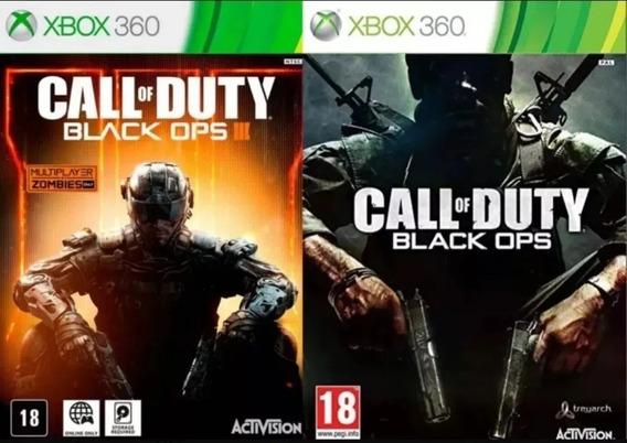 Call Of Duty Bo1 +bo3 Xbox 360 Mídia Digital