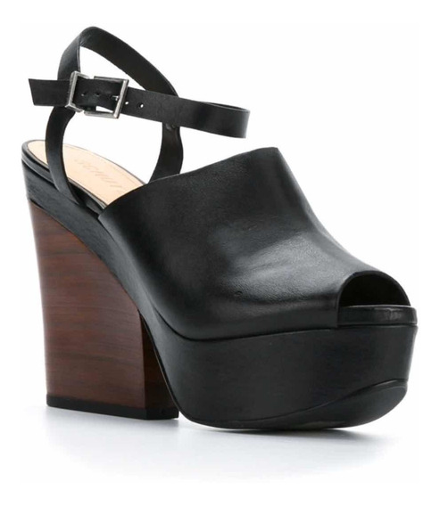 Sapato Schutz Plataforma Couro Meia Pata