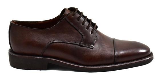 Zapatos De Cuero Bordeaux Leather Nimes Marrón