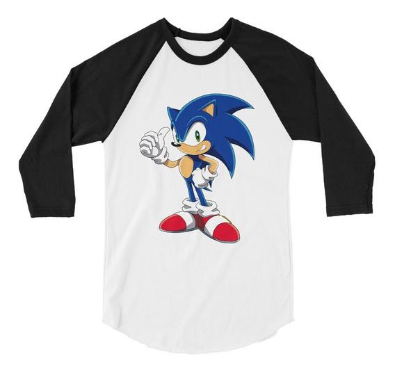 Playera Raglan 3/4 Sonic