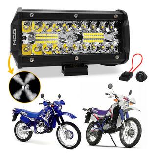 Farol Milha Led 120w 7d 16cm Moto Yamaha Dt 180 200 Trilha
