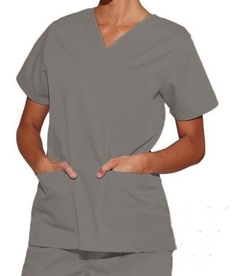 Pijama Pijamão Calça E Camisa + Touca Cirúrgica Brim Pesado