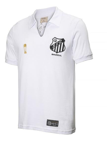 Camisa Santos Retrô Bicampeão 62/63 Oficial