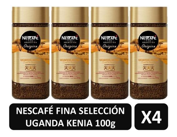 Cafe Nescafe Uganda Kenia Fina Selección Origins X4 Frascos