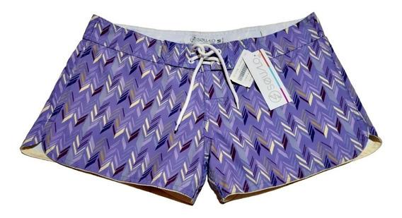 Short Mujer Dama Squalo 100% Original Playa Deportiva Traje Baño Ropa Bermuda Bikini Negro Azul Morado Gris Tinto Naranj