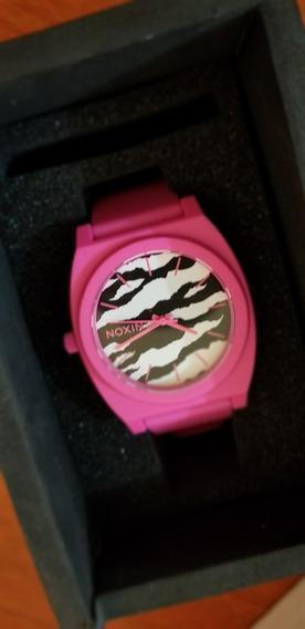 Reloj Nixon Time Teller Matte Neon Rosa Print + Envio Gratis