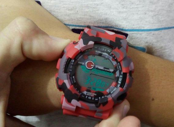 Relógio Militar Camuflado Aventura Trilha Esporte Top Resist