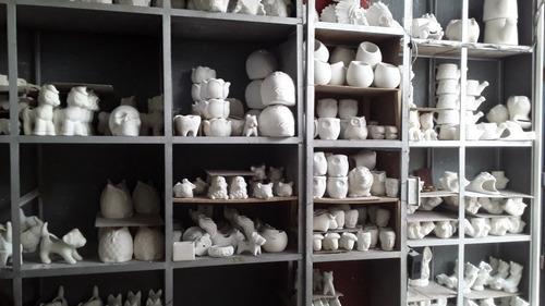6 Ceramicas Para Pintar ( Materas, Portalápiz, Pisa Papel)