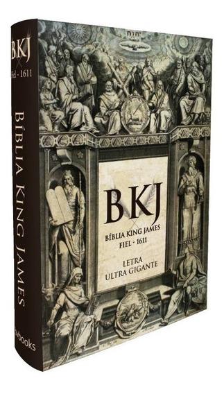 Bíblia King James Texto Original Fiel 1611 Capa Dura