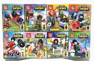 Lego Simil Fortnite Set Cajas Bloques De Construcción X8