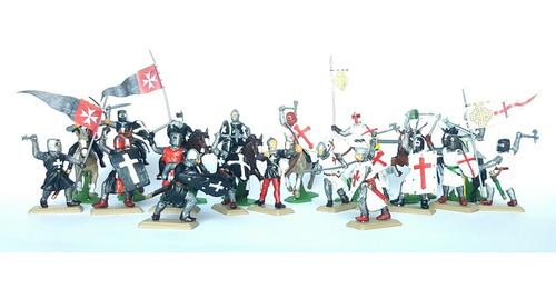 Soldados Medievales Lote X 20 - Cruzados - Templarios