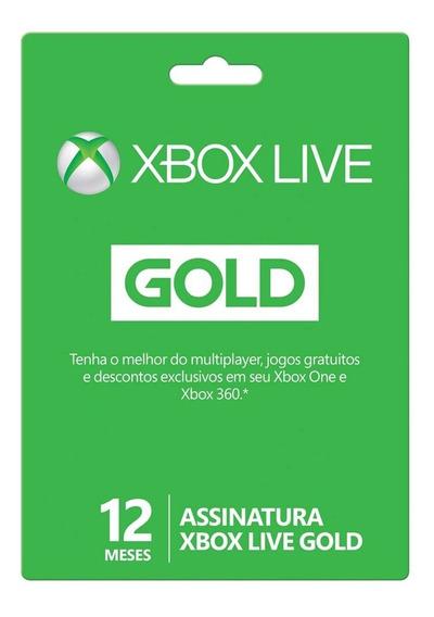 Xbox Live Gold 12 Meses Xbox One / 360 Envio Imediato