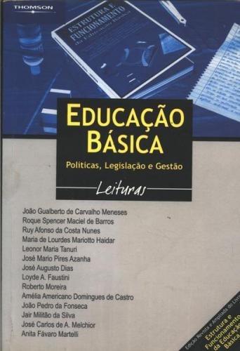 Livro Educação Básica Política Legislação E Gestão