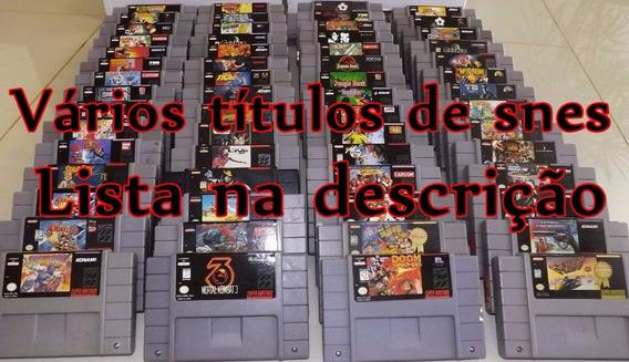 Vários Títulos Do Super Nintendo