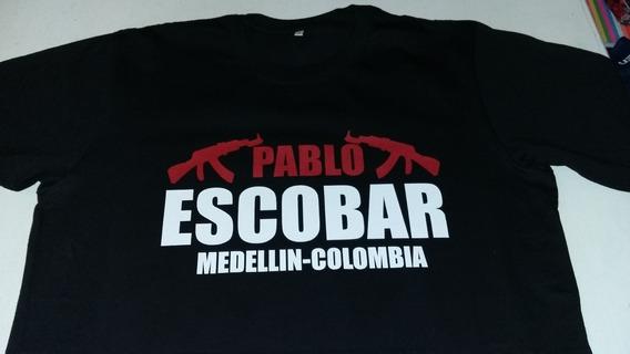 Remera 100%algodon Pablo Escobar