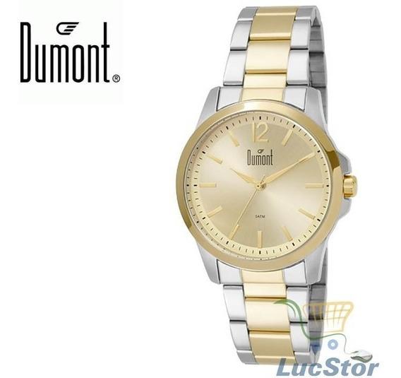 Relogio Dumont Du2035lsn/5p Dourado/prata Unissex