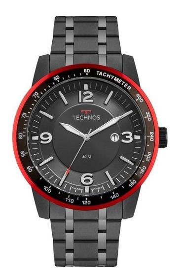 Relógio Technos 2117lba/4p Masculino Preto Pulseira De Aço