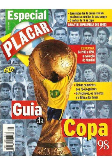 Revista Digitalizada Placar Guia Copa Do Mundo 98 + 2 Álbuns