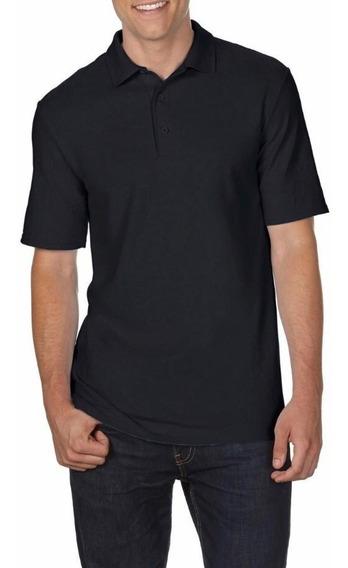 Camiseta Polo Tallas Extra Negro 2xl 3xl 4xl 5xl Original