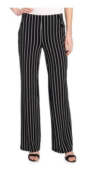 Bbj Los Angeles - Black & White Stripe Pull-on Pantalon - M