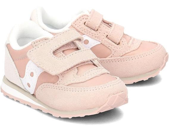 Tenis Saucony Baby Jazz - Sneakersy Hl Pink Para Niña