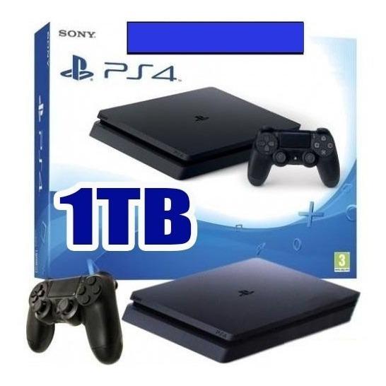 Ps4 Hd 1tb Slim + Controle + Caixa + Jogos + Bivolt + Psn