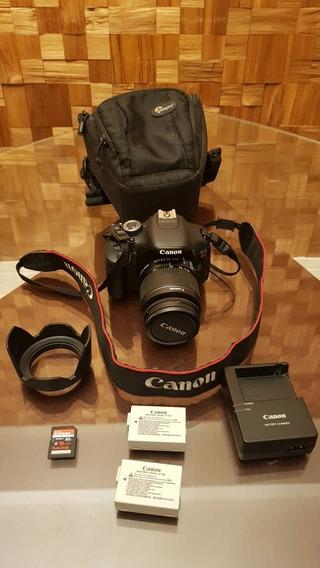 Câmera Canon T3i, Lente 18-55mm, 2 Baterias, Para Sol E Case